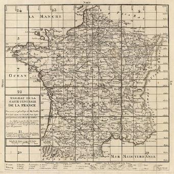 Carte de France Cassini