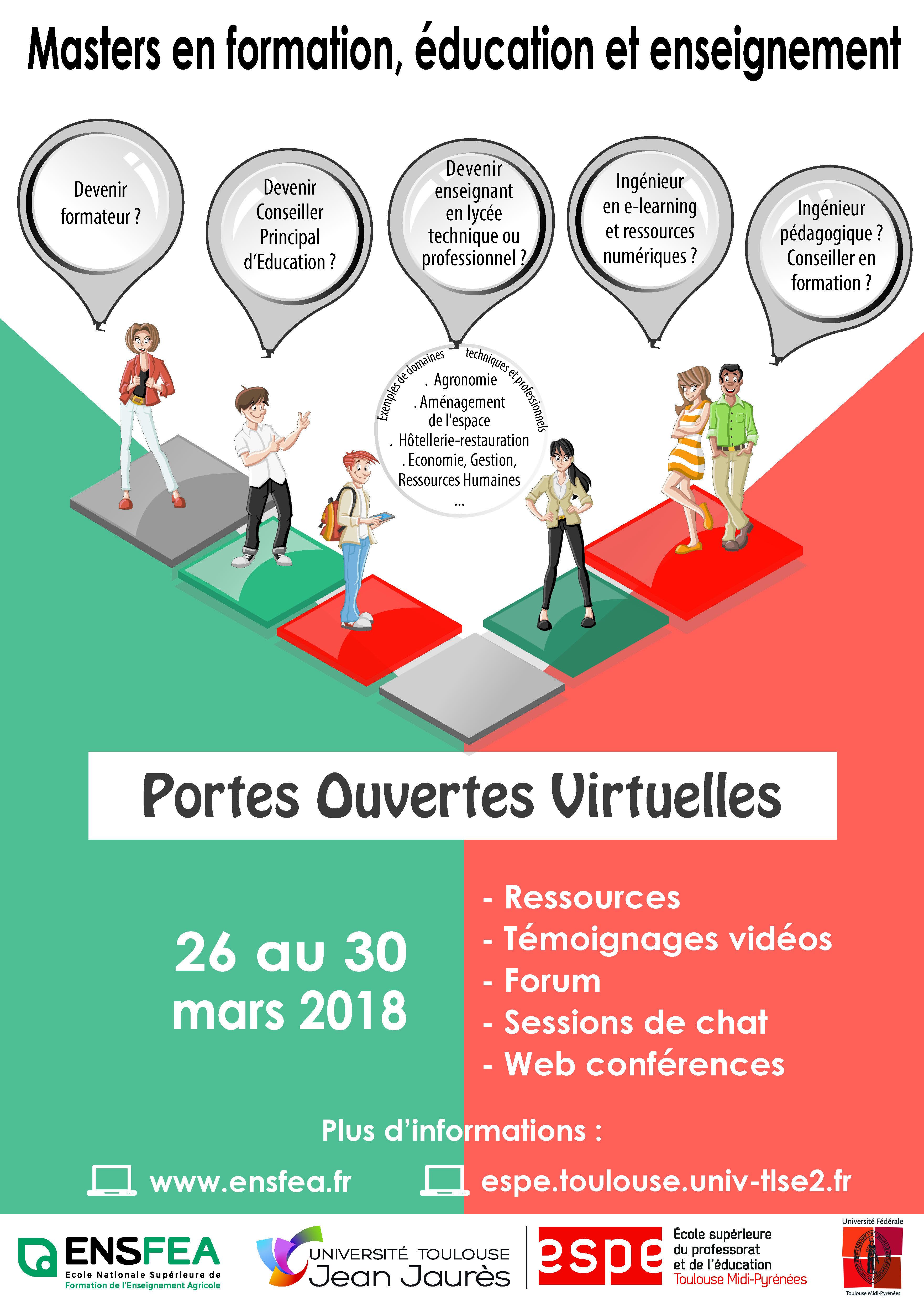 Affiche journées portes ouvertes virtuelles 2018