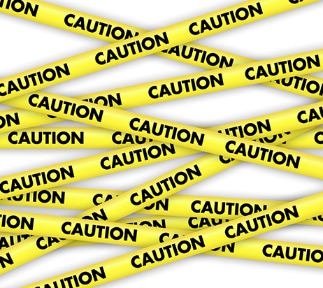 Banderole caution