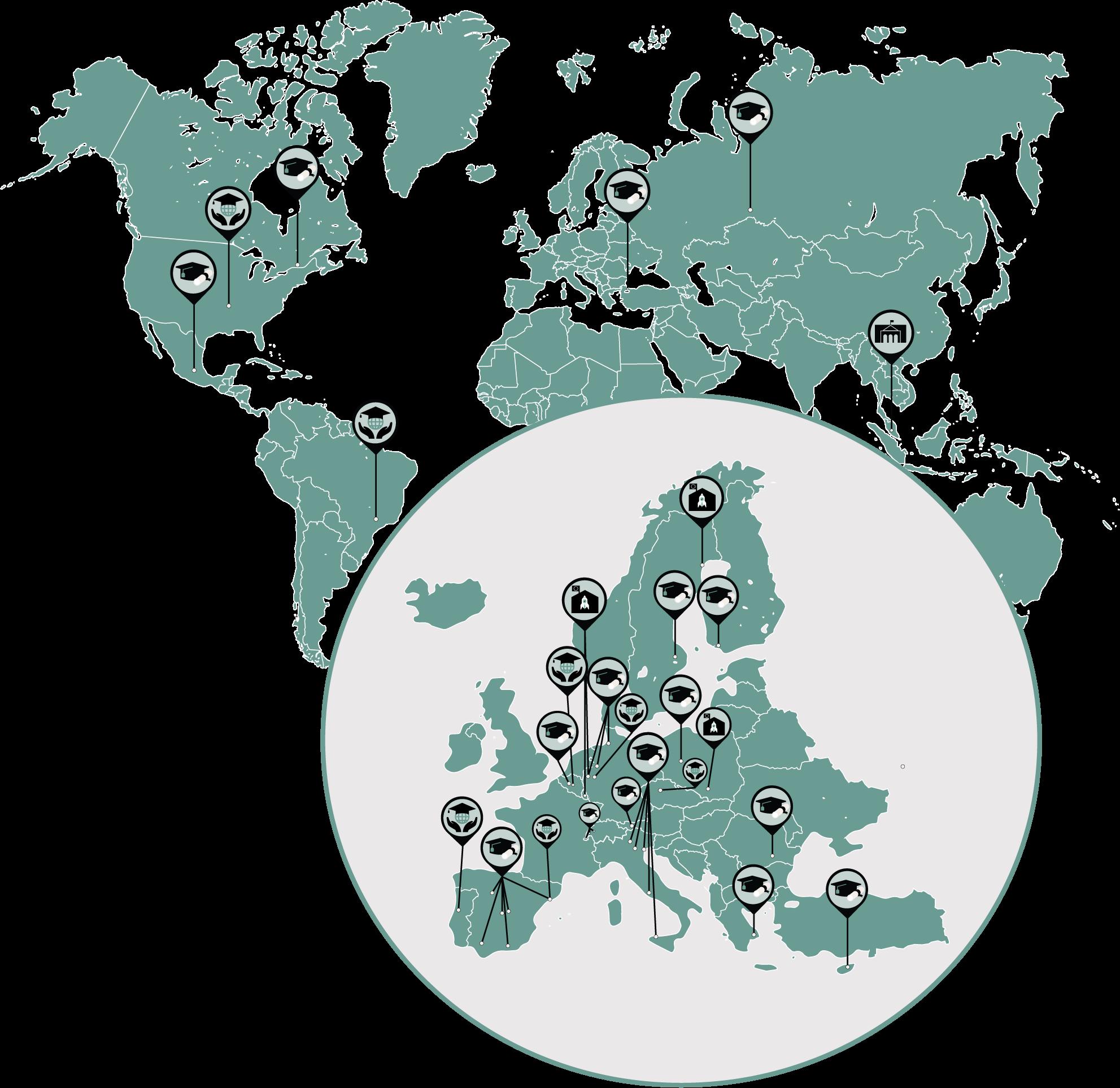 Carte monde politique internationale