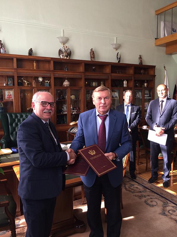 Daniel Lacroix et Vladimir Filippov (président URAP)