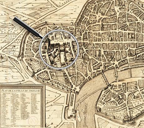 Le quartier latin de Toulouse au 17e siècle