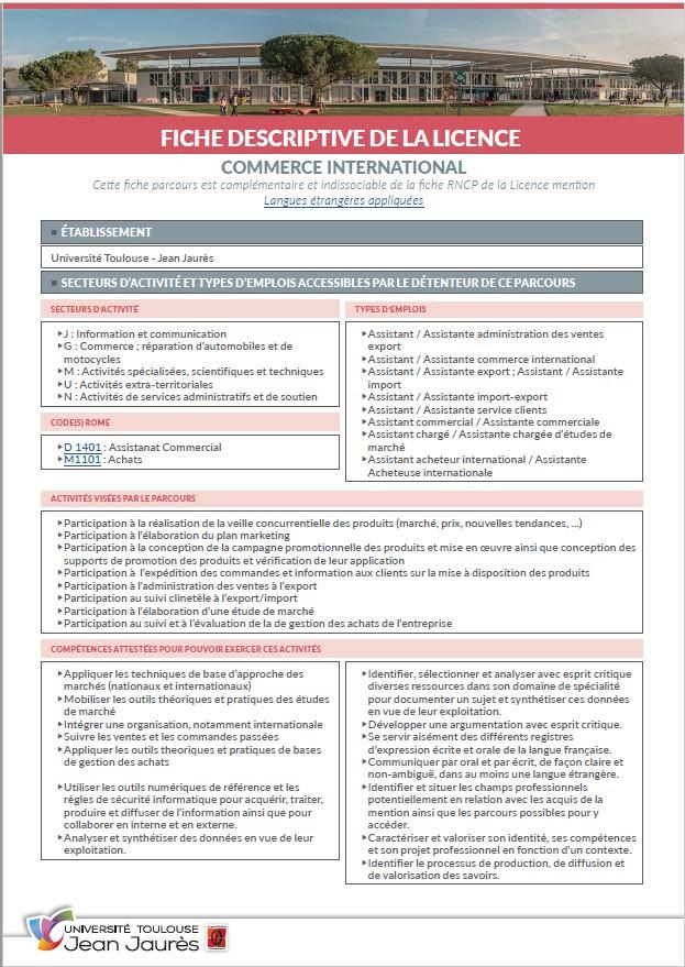 Vignette Fiche descriptive Licence Commerce International